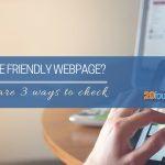 mobile friendly webpage