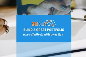 Great tips for building your graphic design portfolio.