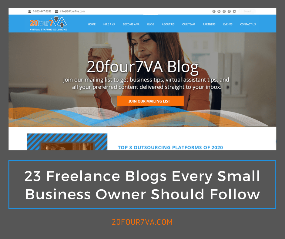 23 Freelance Blogs Every Small Business Owner Should Follow - 20four7VA