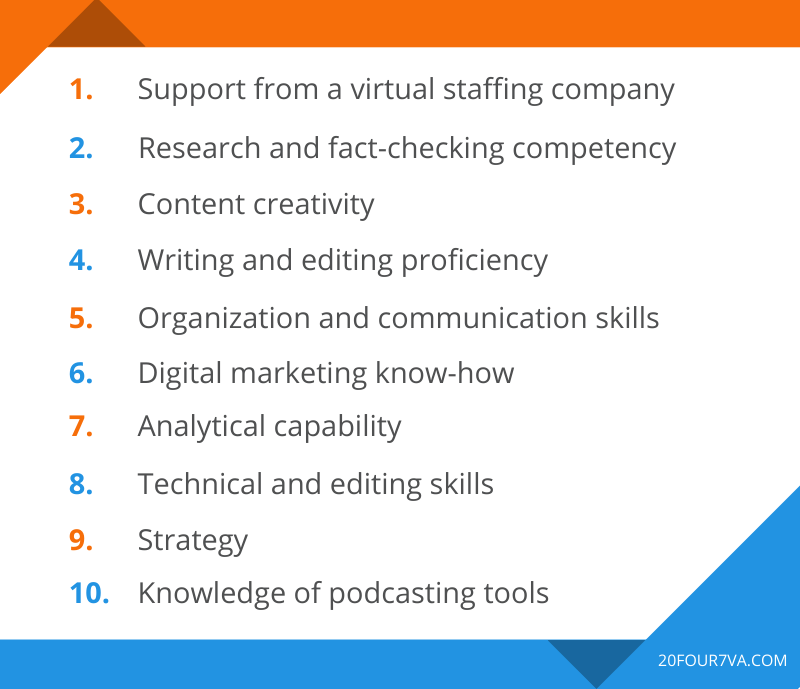 10 Things to Look For When Hiring a Podcast Virtual Assistant
