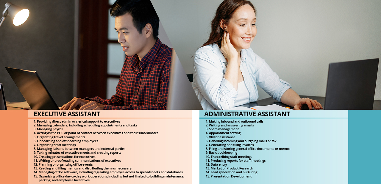 What is an Executive Assistant vs Administrative Assistant?