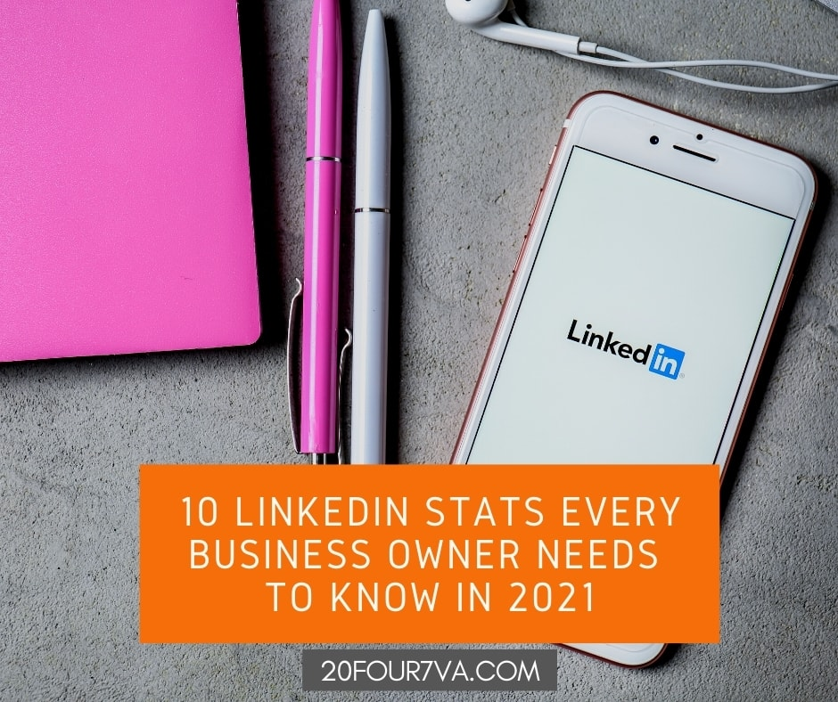 10 LinkedIn Stats Every Business Owner Needs To Know in 2021 - 20Four7VA