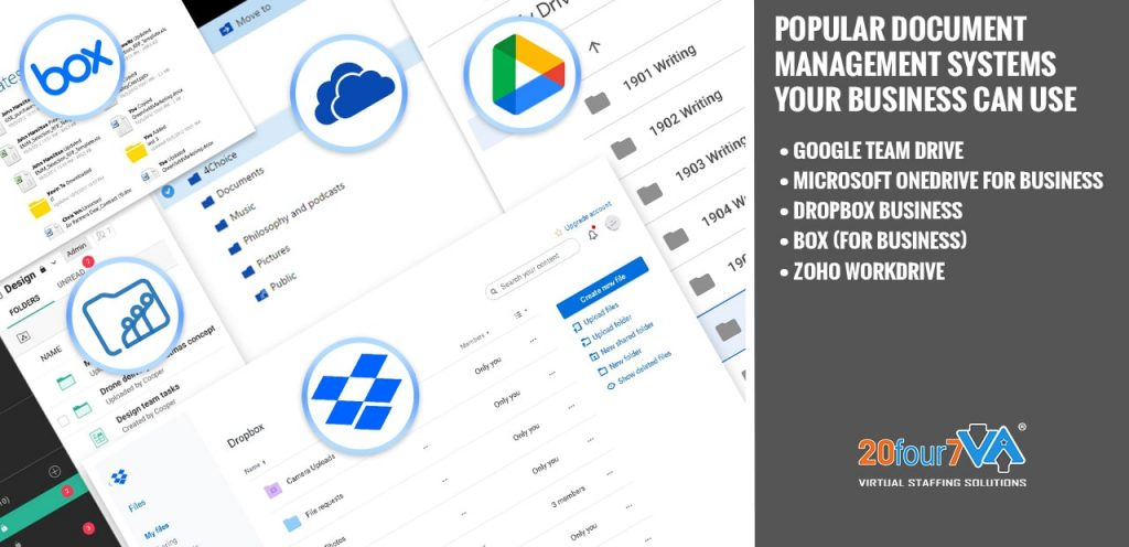 Top Virtual Assistant Tools - Organization and Document Management Systems