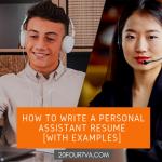 personal assistant resume - 20four7VA