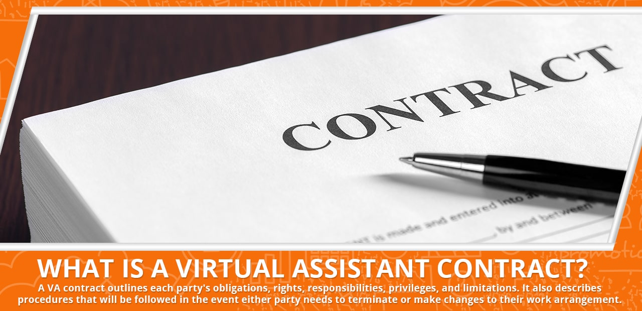 A header with the words What is a Virtual Assistant Contract by 20four7VA.com