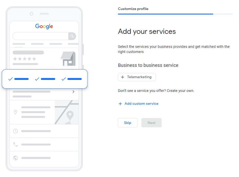 an image showing how to add business services