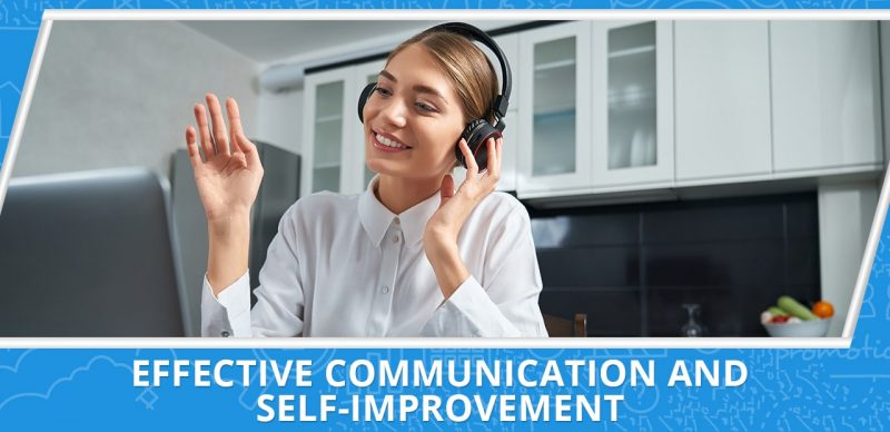 image with a text effective communication and self-improvement