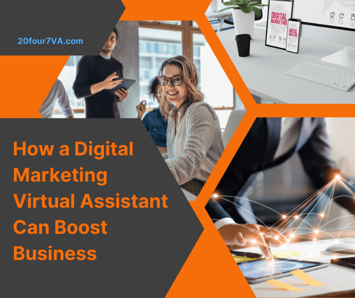 Featured image for the article how a digital marketing virtual assistant can boost business by 20four7VA.com