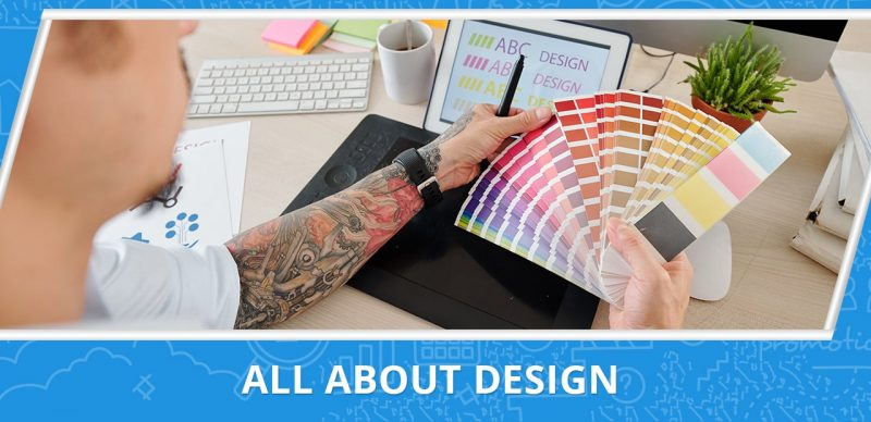 an image with the text all about design