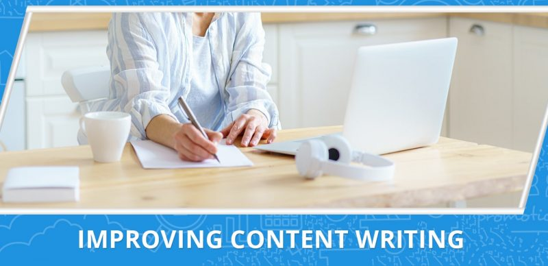 image with a text improving content writing