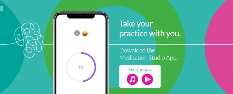 an image showing the download pages for Meditation Studio