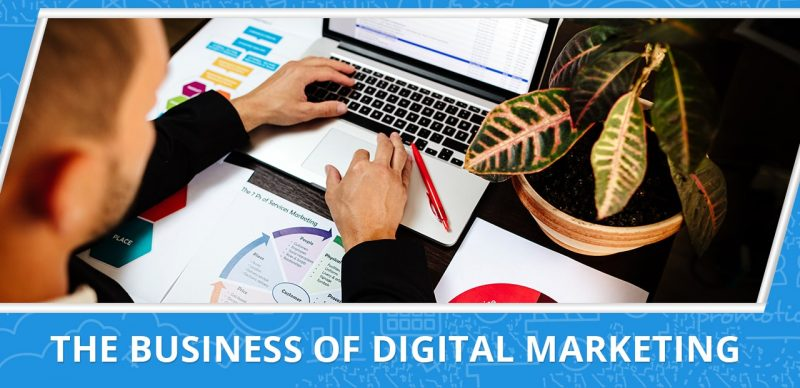 an image with the text the business of digital marketing
