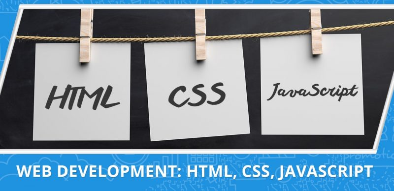 an image with a text that shows web development courses